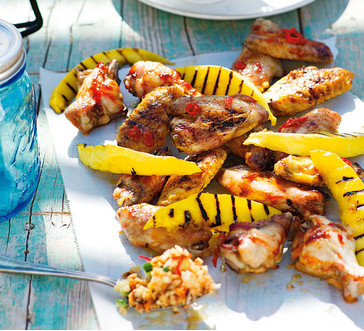 Sticky Grilled Chicken Wings with Mango image