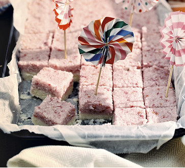 No-bake raspberry-coconut squares image