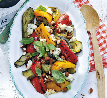 Grilled Zucchini and Pepper Salad with Gorgonzola image