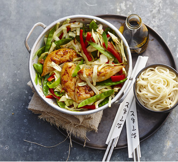 Chicken teriyaki with red pepper image