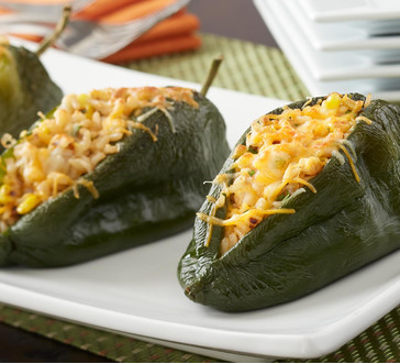 Spicy Shrimp-Stuffed Poblanos image