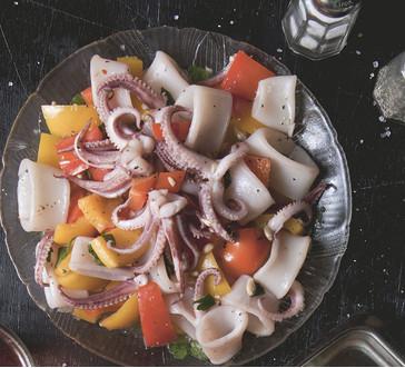 Sautéed Calamari with Peppers image