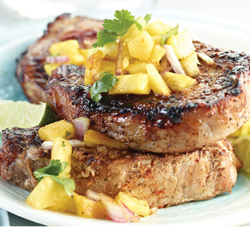Baja Chops with Pineapple Salsa image