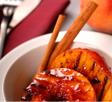 Grilled Peaches with Yogurt, Honey & Walnuts image