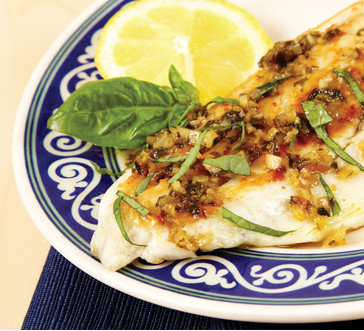 Barramundi with Lemon and Basil image