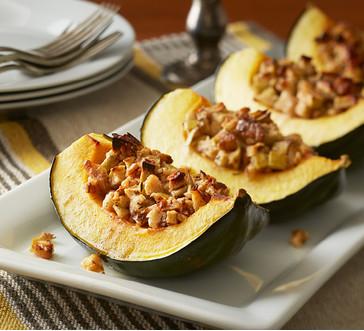 Honey, Apple, and Walnut Stuffed Acorn Squash image