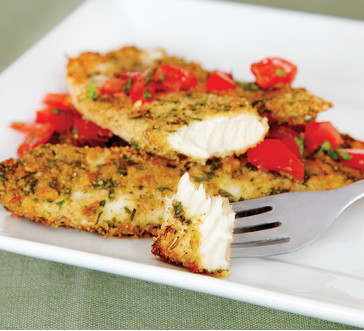 Herb Crusted Tilapia with Tomato Salsa image
