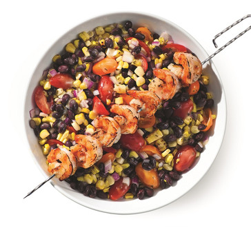 Summer Corn Salsa with Skewered Shrimp image