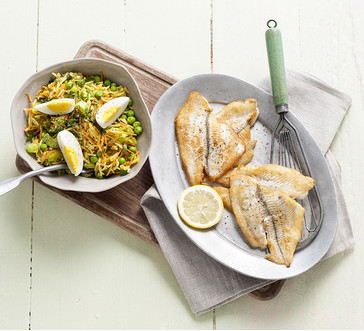 Sautéed Flounder with Rice Salad image