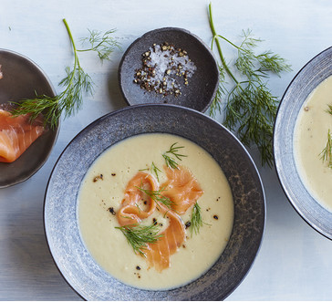 Fennel Soup with Smoked Salmon | Stop and Shop