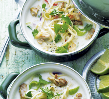Thai coconut chicken noodle soup image
