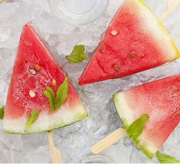 Watermelon Ice Pops with Mint image
