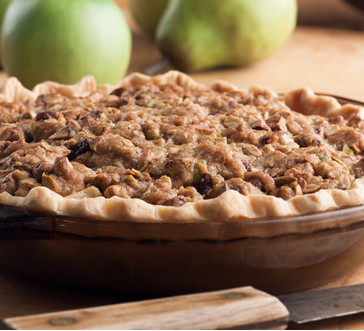 Winter Fruit Pie with Pistachio Crumb Topping image