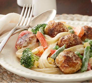 Pasta Primavera with Turkey Meatballs   Stop and Shop