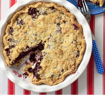 Cherry crumb pie image