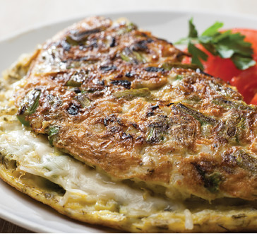 Crab and Asparagus Omelet image