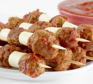 Meatball & Mozzarella Skewers image