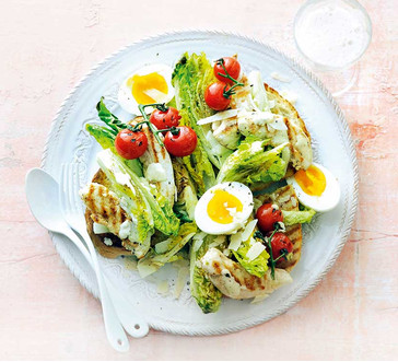 Grilled Chicken Caesar Salad with Tomatoes image