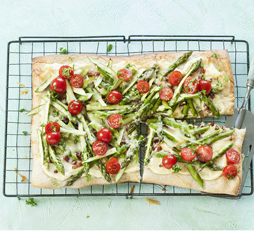 Asparagus, Bacon and Tomato Tart image