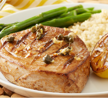 Grilled Tuna with Lemon and Capers image