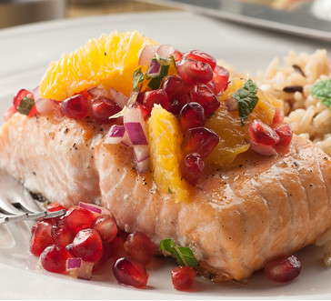 Roasted Salmon with Pomegranate Citrus Salsa | Giant Food ...
