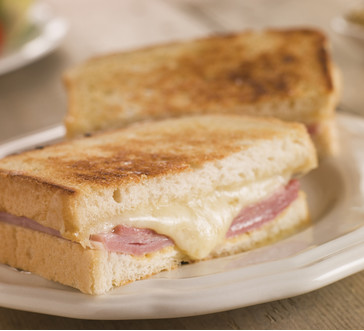 Oven Grilled Ham and Cheese Sandwich image