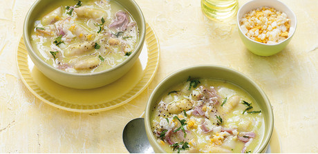 asparagus soup with ham and egg this simple soup makes the perfect ...