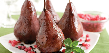 pomegranate spice pears serve these pretty pears for a juicy ...