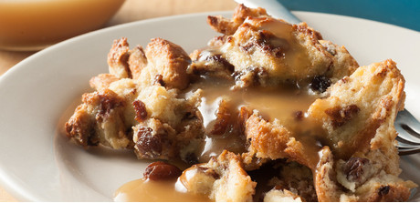 Eggnog Bread Pudding with Brown Sugar-Rum Sauce - Giant's Food Store