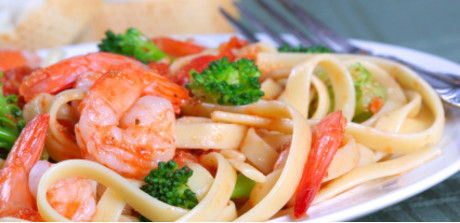 Pasta With Shrimp Broccoli And Cherry Tomatoes Stop Shop
