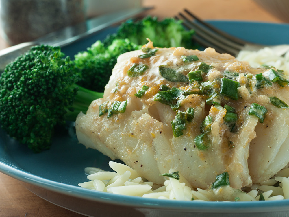 Baked fish fillets with a ginger citrus butter recipes for Baked fish fillets
