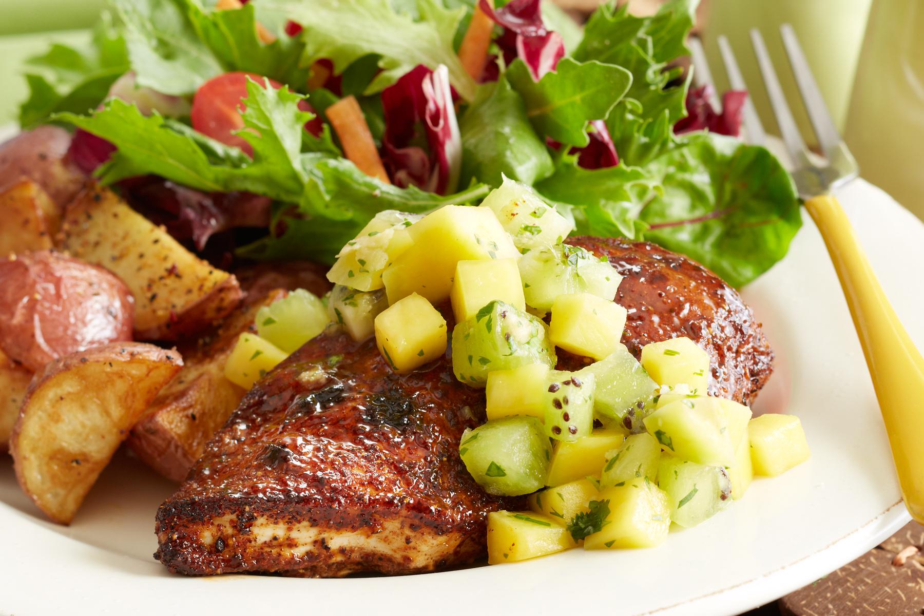 Caribbean Chicken with Mango-Kiwi Salsa | Recipes & Meals - Stop&Shop