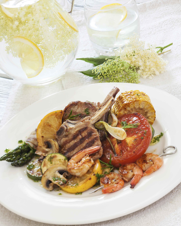 Lemon Herb Veal Chop with Shrimp & Vegetables | Recipes & Meals - Sto...
