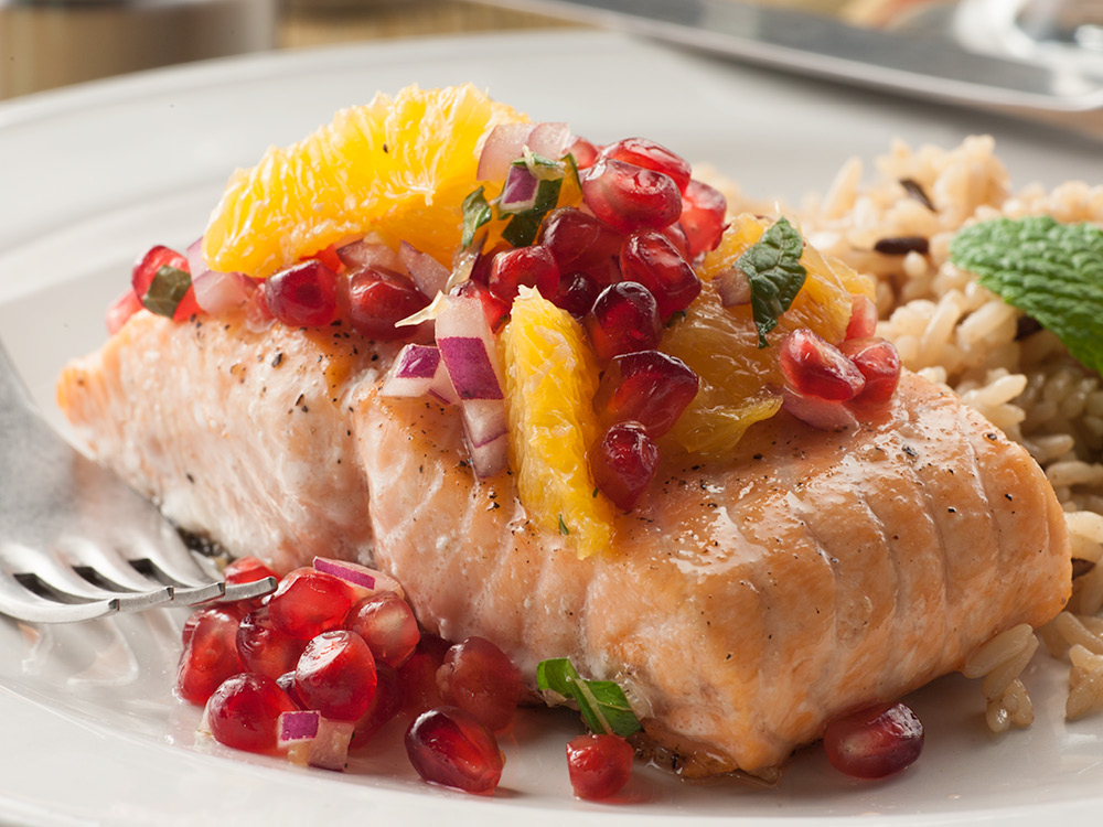 Roasted Salmon with Pomegranate Citrus Salsa | Recipes & Meals - Stop ...