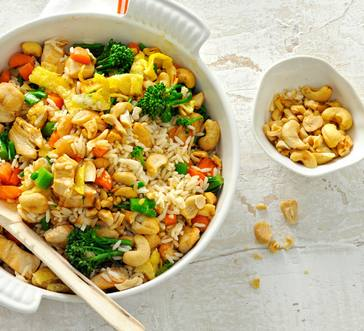 Chicken Fried Rice with Broccolini and Cashews image