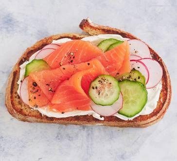 Smoked Salmon Breakfast Toasts image
