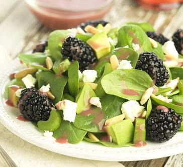 BLACKBERRY SALAD WITH AVOCADO AND ALMONDS image