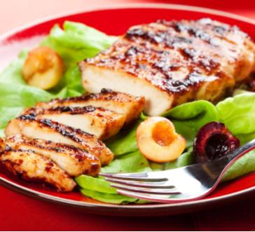 Peach Glazed Chicken Breasts image