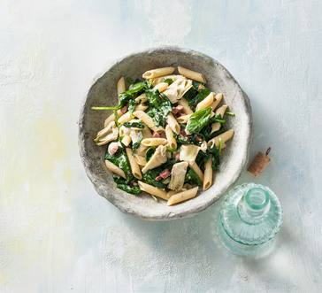 Creamy Penne with Ham and Spinach image