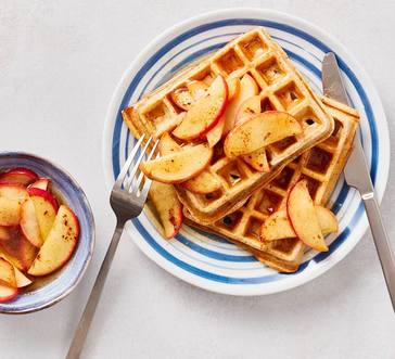 Waffles with Maple Apples image