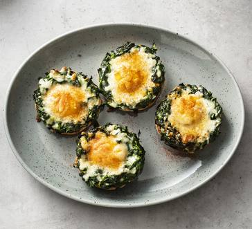 Baked Egg and Spinach English Muffins image