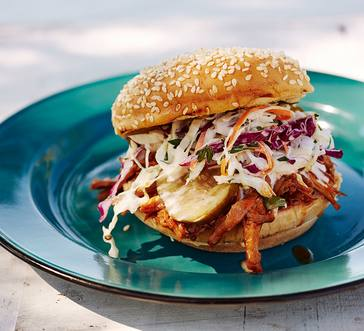St. Louis Slow Cooker Pulled Pork Sandwiches image