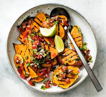Grilled Sweet Potatoes with Salsa image