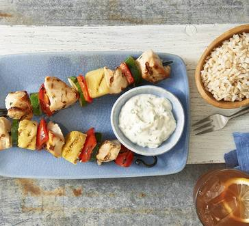 Hellmann's® Cilantro-Lime Pineapple Chicken Skewers image