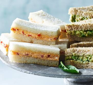 Spicy Pimiento Cheese Finger Sandwiches image
