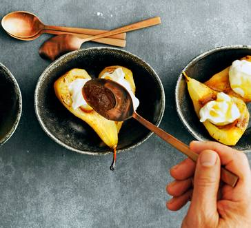 Spiced Caramelized Pears image