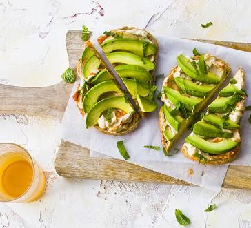 Toast with Hummus and Avocado image