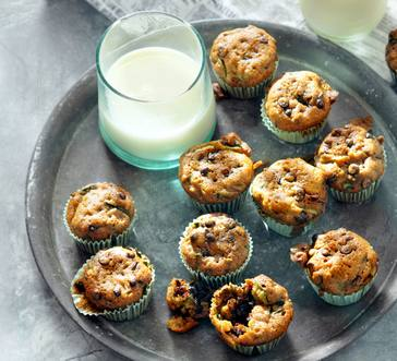 Zucchini-Chocolate Chip Mini Muffins image