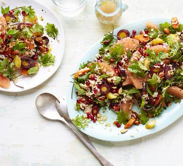 Brown Rice Salad with Grapefruit, Carrots, and Mint image