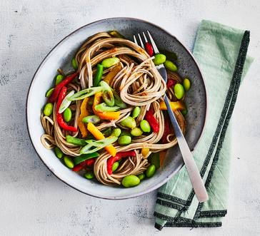 Soba Salad with Edamame and Peppers image
